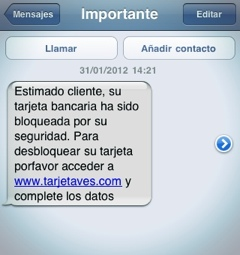 Cuidado con los SMS fraudulentosBe careful with fraudulent SMS
